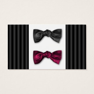 Mr and Mr. Pin Striped Place Card