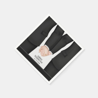 Mr and Mr suit Gay Wedding Paper Serviettes
