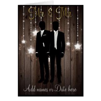 MR AND MR WEDDING CARD