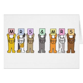 Mr and Mr wedding congratuations Card