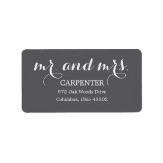 Mr. and Mrs. Address Labels
