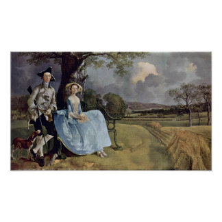 Mr. and Mrs. Andrews by Thomas Gainsborough Print
