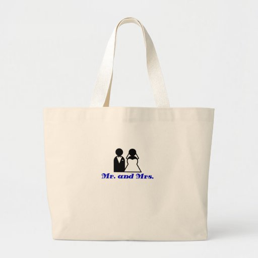 Mr and Mrs Canvas Bag