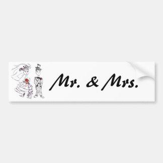 Mr. and Mrs. Bumper Sticker