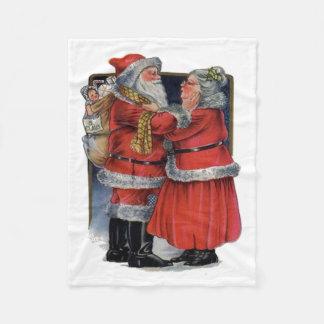 Mr and Mrs Claus Fleece Blanket