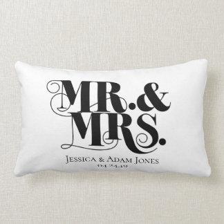 Mr. and Mrs. design, vintage, elegant style. Lumbar Cushion