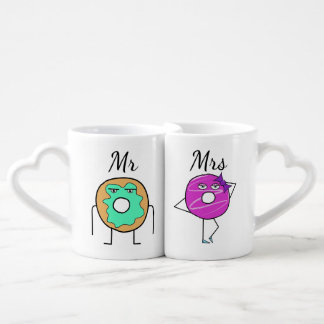 Mr and Mrs Donut Mugs