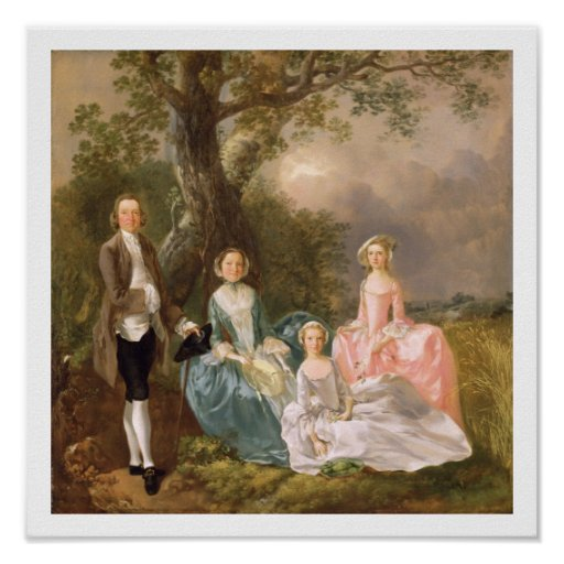Mr and Mrs John Gravenor and their Daughters, Eliz Posters