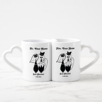 Mr and Mrs Just Married Personalised Mug Set