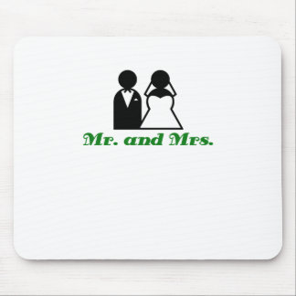 Mr and Mrs Mouse Pad