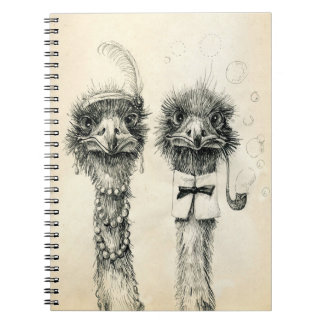 Mr. and Mrs. Ostrich Notebook