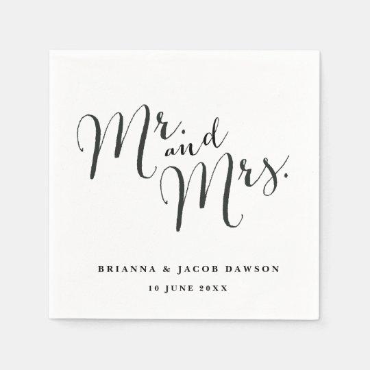 Mr. and Mrs. paper napkins Paper Napkin