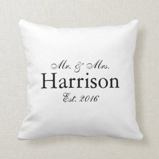Mr. and Mrs. Personalised Wedding Pillow2 Cushion