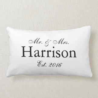 Mr. and Mrs. Personalised Wedding Pillow2 Lumbar Cushion