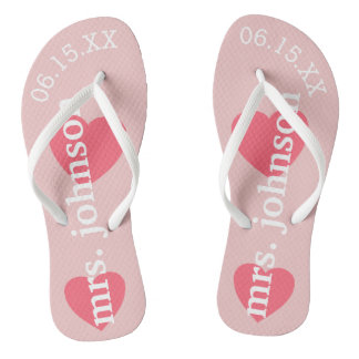 Mr. and Mrs. Personalized Honeymoon with Heart Thongs
