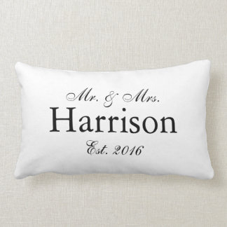 Mr. and Mrs. Personalized Wedding Pillow