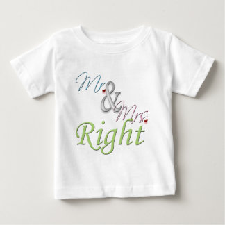 Mr. and Mrs. Right Tee Shirt