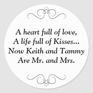 Mr. and Mrs. Round Sticker