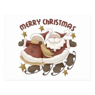 Mr. And Mrs. Santa Claus Christmas Postcard