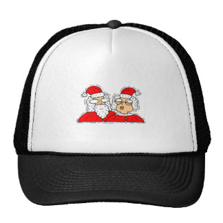 Mr and Mrs Santa Claus Trucker Hats