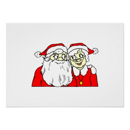 Mr and Mrs Santa Claus Print