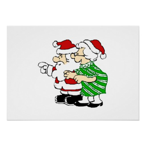 Mr and Mrs Santa Claus Poster