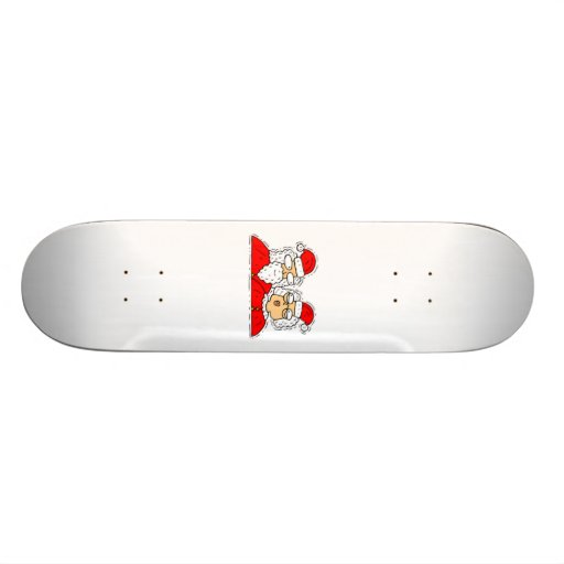 Mr and Mrs Santa Claus Skateboard Deck