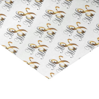 Mr. and Mrs. Script Word Pattern Tissue Paper