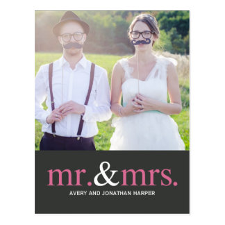 MR. AND MRS. Thank You Postcard