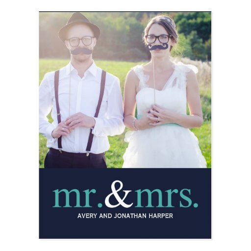 MR. AND MRS. Thank You Postcard Postcard
