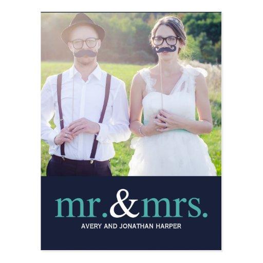 MR. AND MRS. Thank You Postcard Postcard