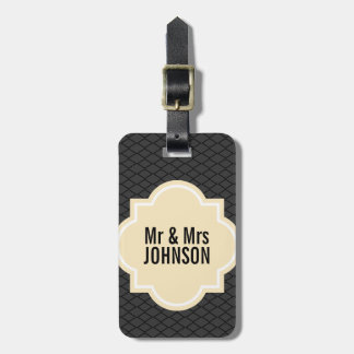 Mr and Mrs travel luggage tag for wedding couple