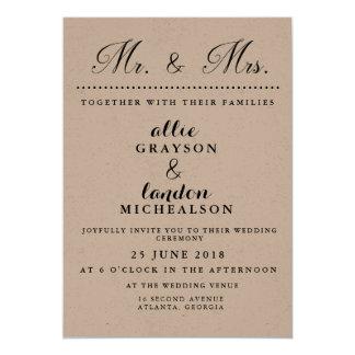 Mr. and Mrs. Wedding Invitation
