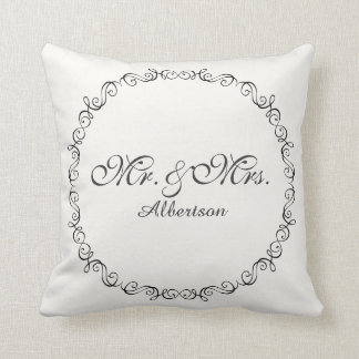 Mr. and Mrs. Wedding Pillow