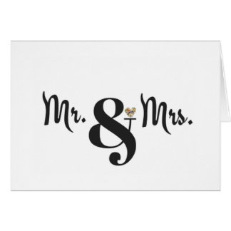 Mr. and Mrs. Wedding Stationery for Texans Card