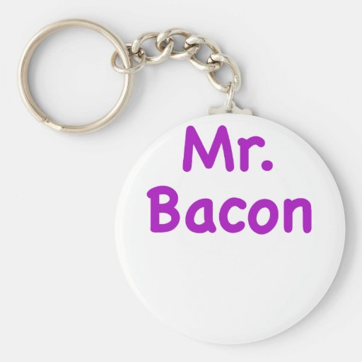 Mr. Bacon Keychain