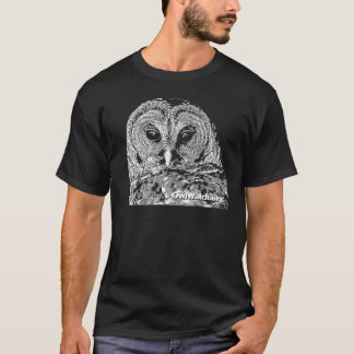 Mr Barred Owl - On Black T-Shirt