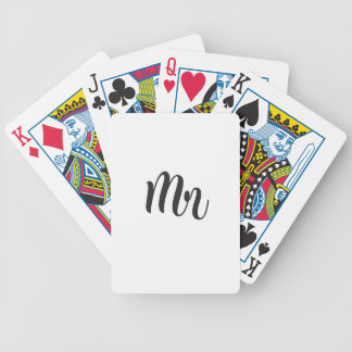 Mr Bicycle Playing Cards