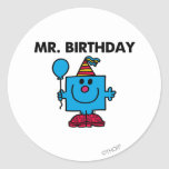 Mr Birthday Classic Round Sticker