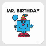 Mr Birthday Classic Stickers