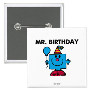 Mr. Birthday | Happy Birthday Balloon 15 Cm Square Badge