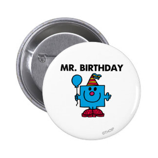 Mr. Birthday | Happy Birthday Balloon 6 Cm Round Badge