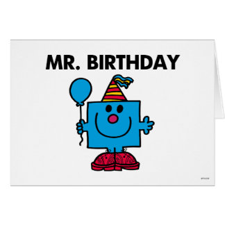 Mr. Birthday | Happy Birthday Balloon Note Card