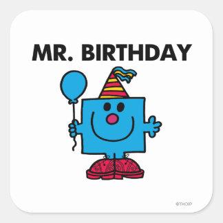 Mr. Birthday | Happy Birthday Balloon Square Sticker