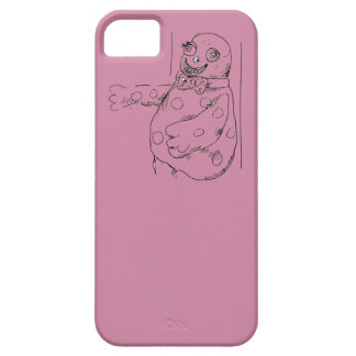 Mr Blobby illustration phone case
