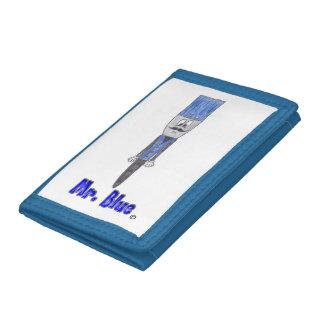Mr. Blue Character Paintbrush Wallet