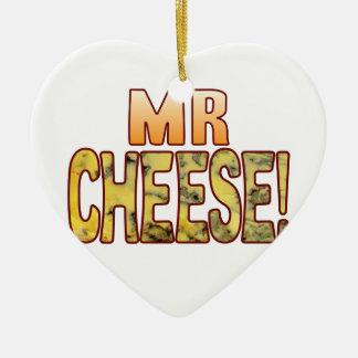 Mr Blue Cheese Ceramic Heart Decoration