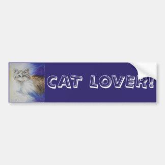 Mr. Blue Eyes, watercolor cat painting Bumper Sticker