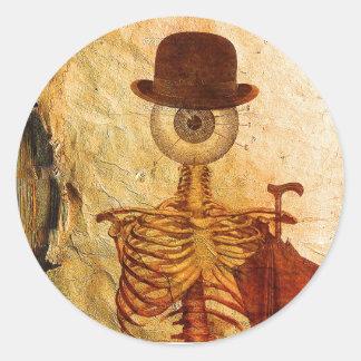 Mr Bone Round Sticker