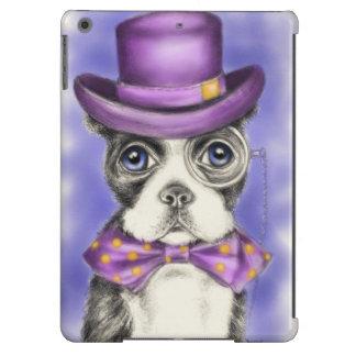 Mr Boston Terrier Purple iPad Air Cases